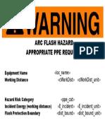 Reporte Arcflash
