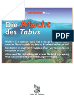 Info-Broschüre 'Die Macht Des Tabus'