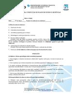 Roteiro Confecção Do Plano de Ensino e Regências