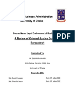 A Review of Criminal Justice System of Bangladesh