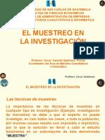 El Muestreo en La Investigación 2015