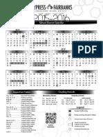 Cy-fair District Calendar