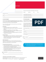 Advisor Support Form