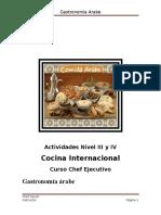 8 Cocina Arabe Actividades Nivel III y IV