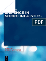 (Topics in English Linguistics 84) Péter Rácz-Salience in Sociolinguistics_ a Quantitative Approach-De Gruyter Mouton (2013)