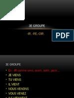 3e Groupe Des Verbes