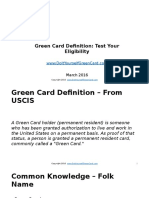 Green Card Definition