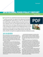 Synopsis, 2016 Global Food Policy Report