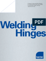 Barriercomponents Welding Hinges Catalogue