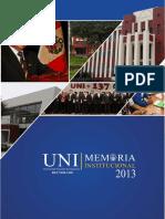 Memoria Uni 2013