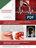 Tratamentul Chirurgical Al Anomaliilor Deformaţiile Maxilarului