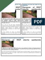 Noticia Dengue