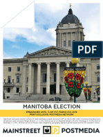 Mainstreet poll, Manitoba March 31