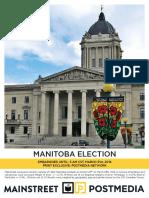 Mainstreet poll, Manitoba March 31