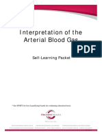 Interpretation of the arterial blood gas