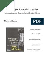 McLaren - Pedagogía, identidad y poder