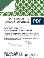 Programación Lineal y No Lineal