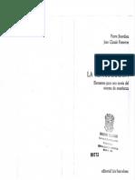 La Teoria de La Reproducción (P. Bourdeu Jean Claude Passeron)