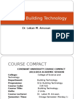 Cve522 Building Technology Compact and Module 1 (1)