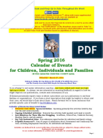 Calendar of Events - March 27, 2016