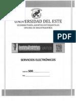 Servicios Electrónicos