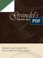 Speisekarte Gaststaette Gruendel