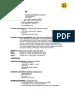 Modelo de Curriculum Hosteleria y Turismo