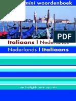 Italiaans Nederlands Nederlands Italiaans Mini Woordenboek