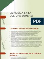 La Musica en La Cultura Sumeria