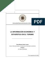 La información económica y estadística en el turismo. 2002