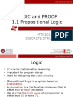 MTK3013-Chapter1.1 Propositional Logic