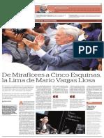 De Miraflores a Cinco esquinas, la Lima de Mario Vargas Llosa