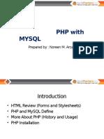 PHP With MYSQL Presentation