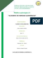 GLOSARIO DE HERIDAS QUIRÚRGICA HERIDAS QUIRURGICAS.docx