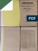 Demostración de la legitimidad de la Independencia del Paraguay y de la Legalidad del Tratado de comercio especial entre su gobierno y el de la Provincia de Corrientes por D. José Rivera Indarte- Año 1845