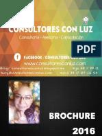 Carta de Presentación y Brouchure 2016 Consultores Con Luz & Dra. Lucy Medina.