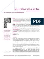 Knowledge Pays - Evidence From a Law Firm