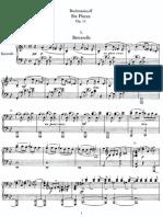 Rachmaninoff Op11 Six Pieces for 4hands