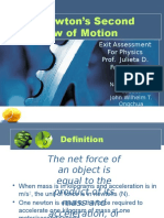 Newton's Second Law of Motion (Law of Acceleration)