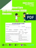 ECCD Checklist Child s Record 2