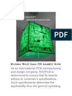 Mistakes Which Cause PCB Assembly Holds