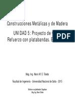 11 Unidad 5 Proyecto de Vigas Platabandas Empalme Disimetrica 28 Diap 2015