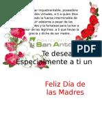 Tarjeta Dia de La Madre San Antonio