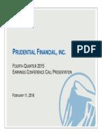 Prudential Financial Inc-4Q15 Earnings Call Presentation