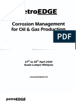 Corrosion Management for Oil & Gas Production