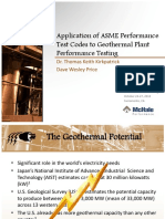 Application of ASME PTCs to Geothermal Perf Testing (Oct 2010)