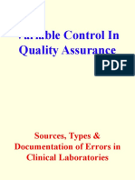 Variable Control in Quality Assurance (2)