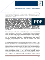 """IQ4I Research & Consultancy published a new report on """"3D Printing Medical/Healthcare Global Market  – Forecast To 2022"""""""
