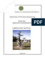 Drilling Engineering Laboratory Manual