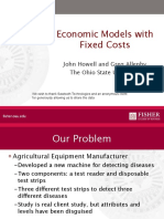 Economic models with fixed costs